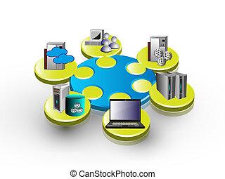 aplicación, integración, empresa