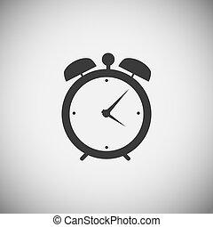 aplicación, madera, reloj, iconos
