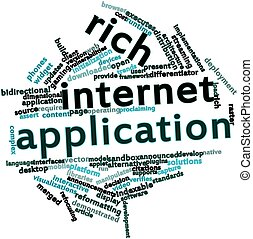 aplicación, rico, internet