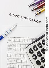 aplicación, subvención