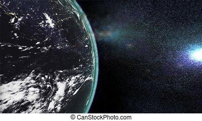 Apocalypse, planet earth exploding