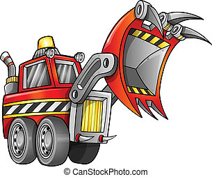 Apocalyptic Front Loader Vector