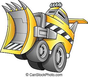 apocalyptique, vecteur, véhicule