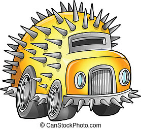 apocalyptique, voiture, véhicule