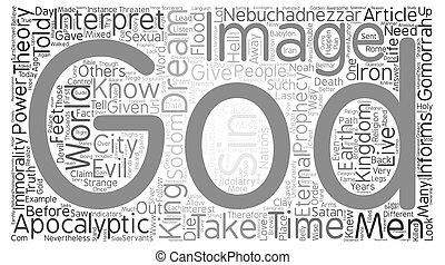apocalyptisch, concept, woord, tekst, beeld, achtergrond, voorspelling, wolk