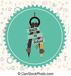 apoie escola, ícones, desenho