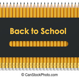 apoie escola, conceito, 3d, fazendo