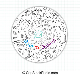 apoie escola, global, ícones