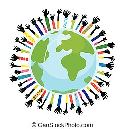 apoio, concepção, unidade, globo