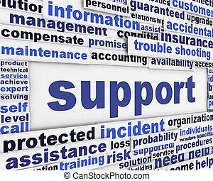 apoio, mensagem, fundo