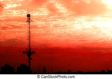 apokalyptisch, fernmeldeverwaltungen, antenne