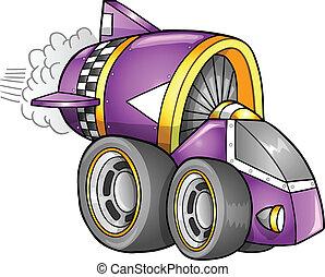 apokalyptisk, bil, vektor, fordon