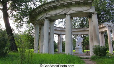 apollo colonnade in Pavlovsk park St. Petersburg Russia
