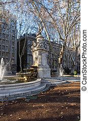 Apollo Fountain in City of Madrid