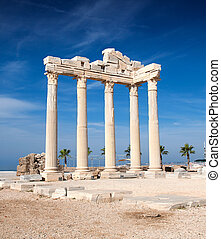 apollo, ruines, temple