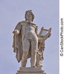 Apollo statue, the god of poetry and music