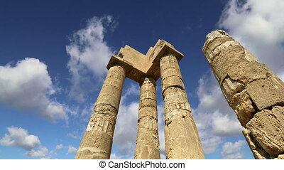 Apollo Temple. Rhodes, Greece - Apollo Temple at the...