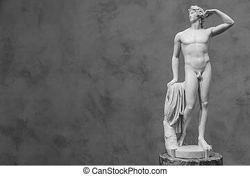 Apollo's idealized body and balanced pose