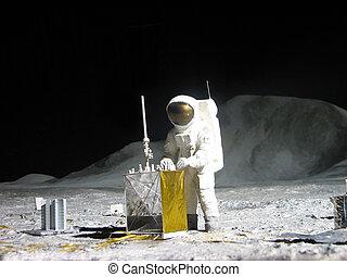 apolo, 11, -, atterrissage, lune