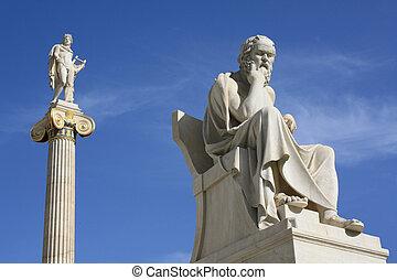 apolo, grecia, estatuas, atenas, socrates