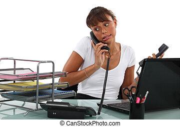 apologetic, secretária, telefone