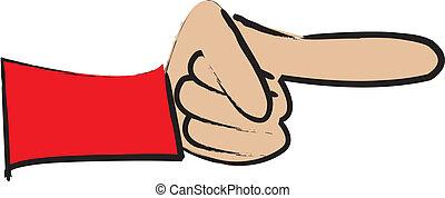 apontando dedo