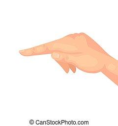 apontar, branca, dedo, fundo, mão