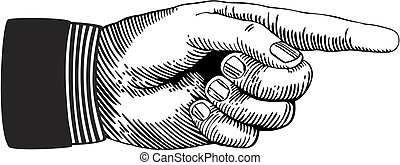 apontar, mão