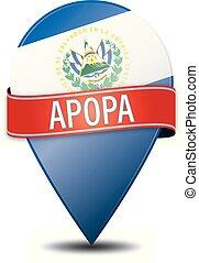 APOPA EL SALVADOR glossy web pin