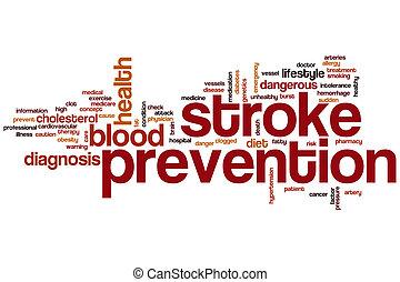 apoplexia, palavra, prevenção, nuvem