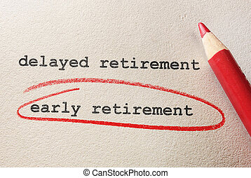aposentadoria prévia, conceito