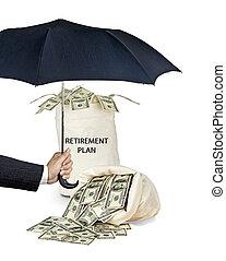 aposentadoria, proteção, plano