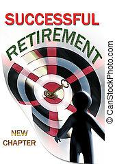 aposentadoria, um, novo, capítulo, em, vida