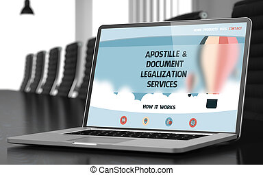 Apostille and Document Legalization Services Concept. 3D. - ...
