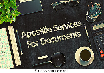 Apostille Services For Documents Concept. 3D render. - ...