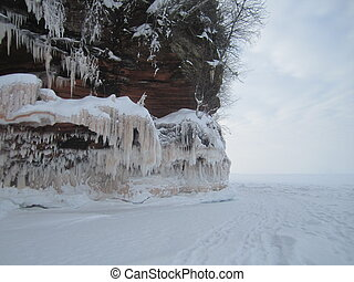 Apostle Islands Lakeshore in winter
