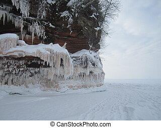 Apostle Islands Lakeshore in winter
