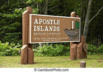 Apostle Islands National Lakeshore Entrance Sign. United ...