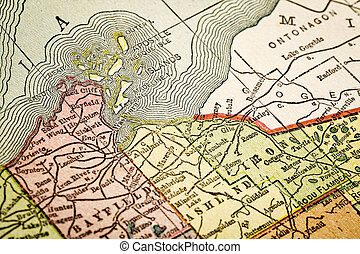 Apostle Islands on vintage map