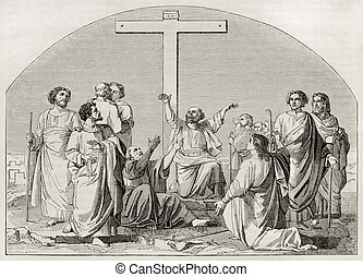 Apostles departure - The Departure of the Apostles (to...