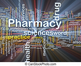 apotek, bakgrund, begrepp, glödande