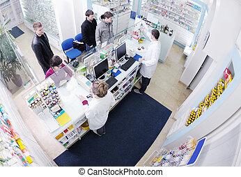 apoteker, foreslå, medicinsk, medicin, til, køber, ind,...