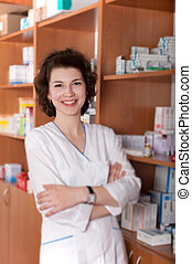 apotekeren, ind, drugstore