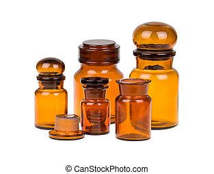 Apothecary bottles - Empty vintage apothecary bottles ...