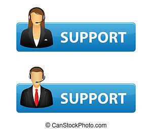 apoyo, botones