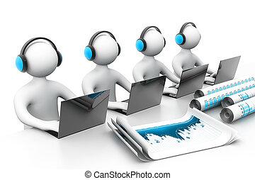 apoyo, empresa / negocio, en línea
