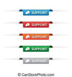 apoyo, etiqueta de papel, etiquetas