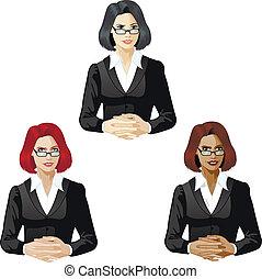 apoyo, hembra, abogado, experto
