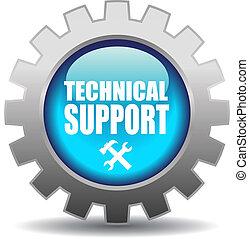 apoyo, vector, icono