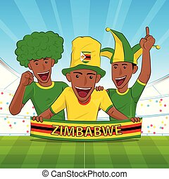 apoyo, zimbabwe, fútbol
